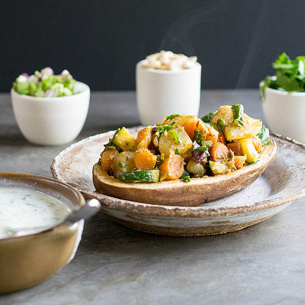 Curried Vegetable Potato Chaat from Healthy Slow Cooking