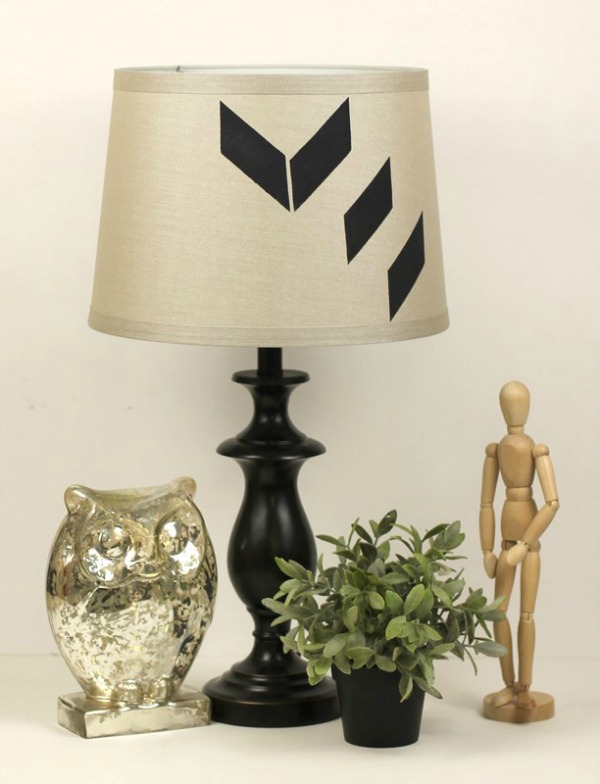 DIY Stenciled Lamp Shade