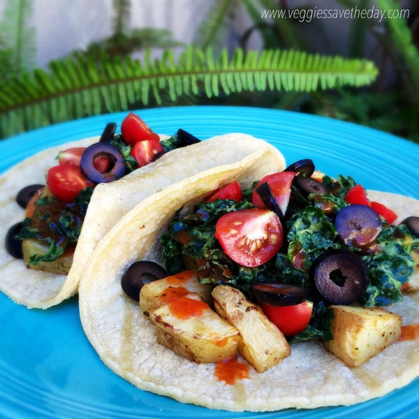 Potato Kale Tacos from Veggies Save the Day