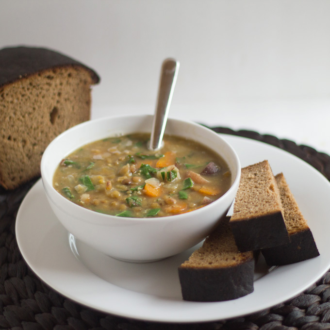 Pressure Cooker Lentil Soup from Eat Within Your Means