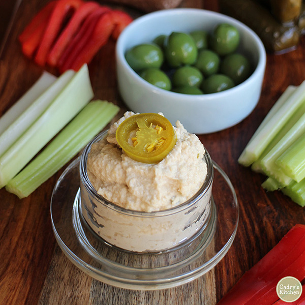 Jalapeno Cashew Cheese Spread from Cadry's Kitchen