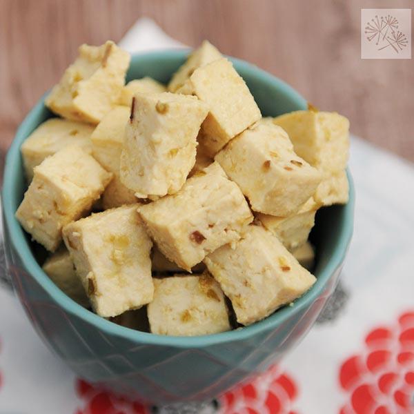 Tofu Feta from Fried Dandelions