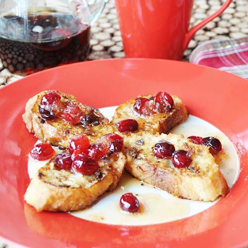 Vegan Eggnog French Toast from Veganosity