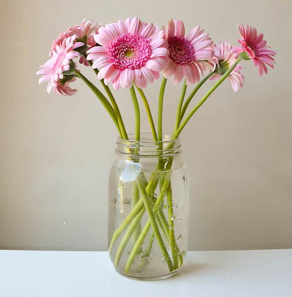 Bouquet of Flowers in a Mason Jar