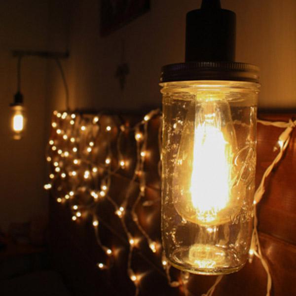 DIY Glass Jar Lantern