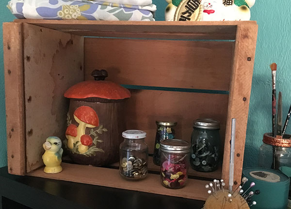 Glass Jars of Buttons