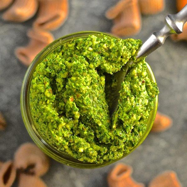 Kale Almond Pesto from A Virtual Vegan