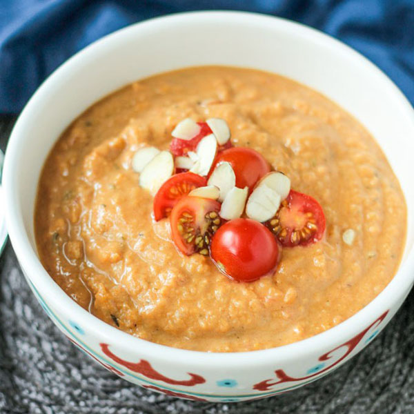 Sweet Potato Almond Soup from Veggie Inspired Journey