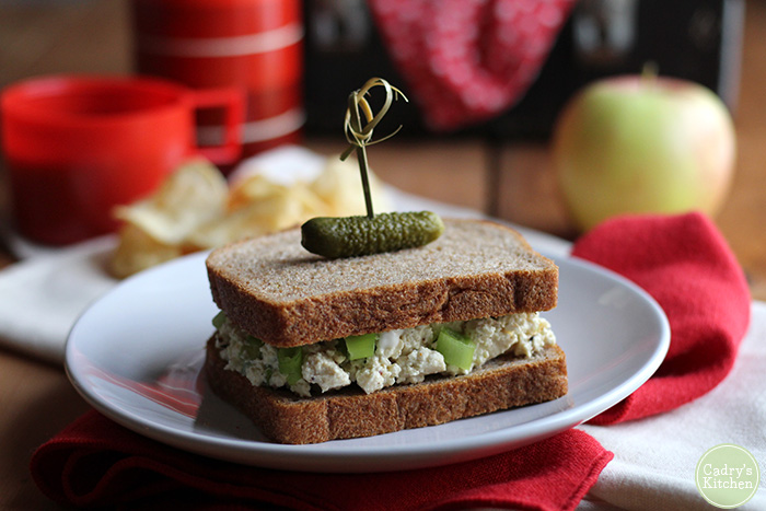 Tofu Salad Sandwich from Cadrys Kitchen
