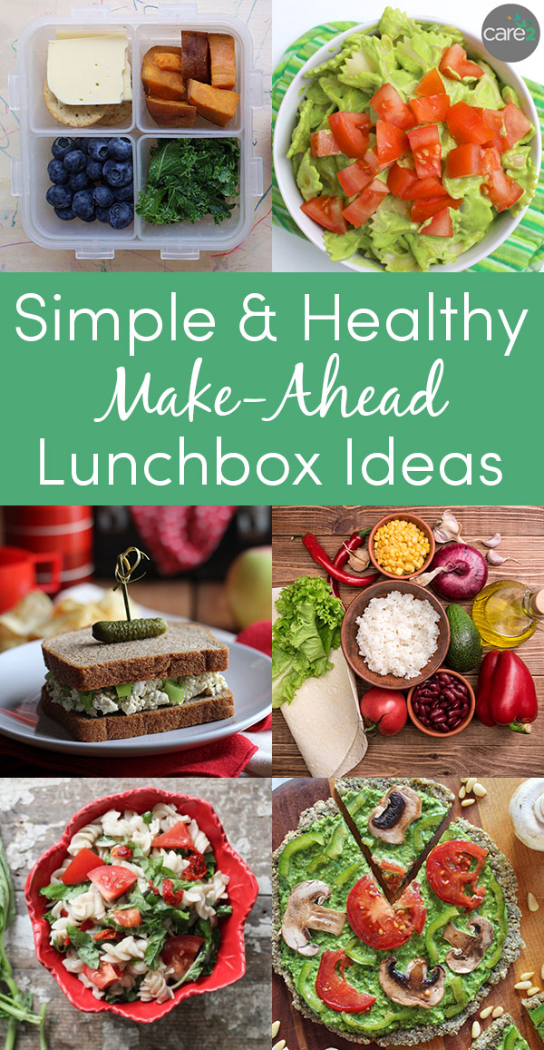 Make-ahead lunches that you can pack the night before or even days in advance.