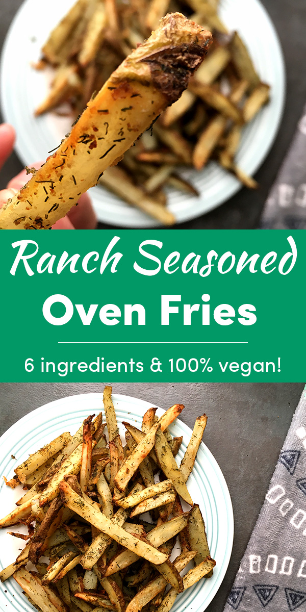 Oven fries with baked-on ranch seasoning are delicious on their own or dunked into your favorite dipping sauce. Get the video or written recipe - whichever works best for you!