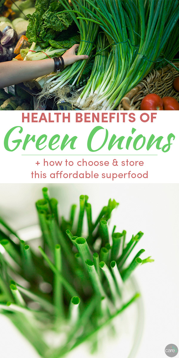 Green onions are an affordable superfood that don't get the credit they deserve. Learn the health benefits of green onions, and get tips on how to choose and store them.