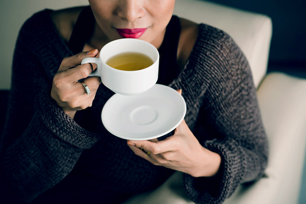 Hot tea, especially ginger tea, is a soothing natural remedy for sinus pain and pressure.