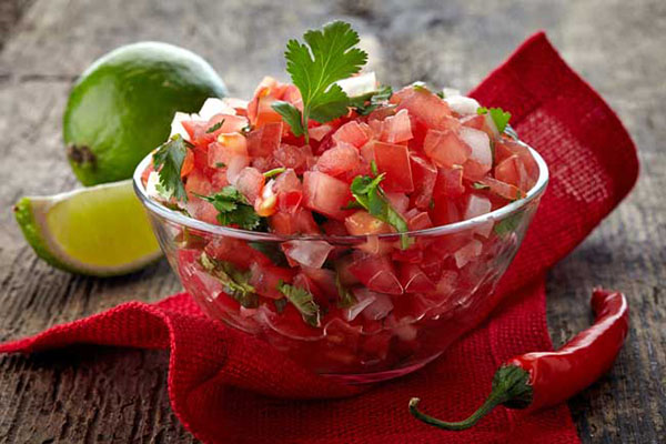 You don't have to get fancy, if you don't want to. A basic salsa fresca adds umami and freshness to your vegan tacos.