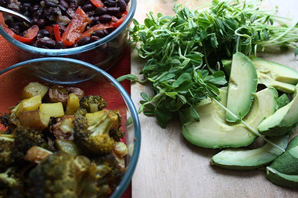 Add some extra veggies to your vegan tacos!
