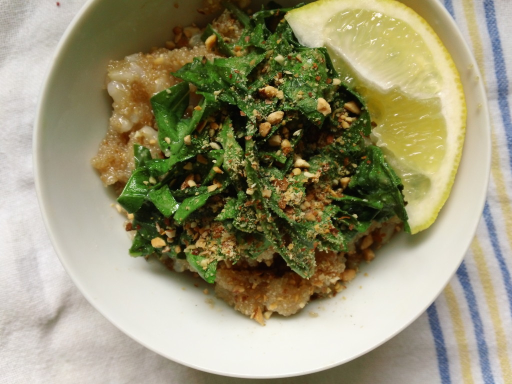 Amaranth with Miso-Glazed Greens from Vibrant Wellness Journal