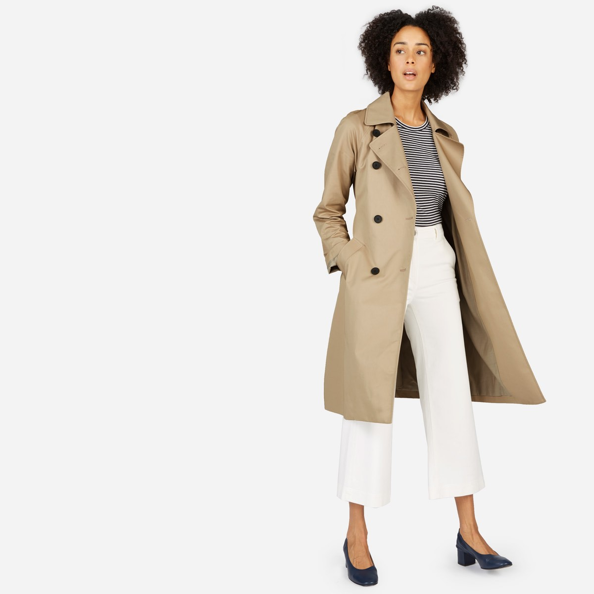 drape trench everlane
