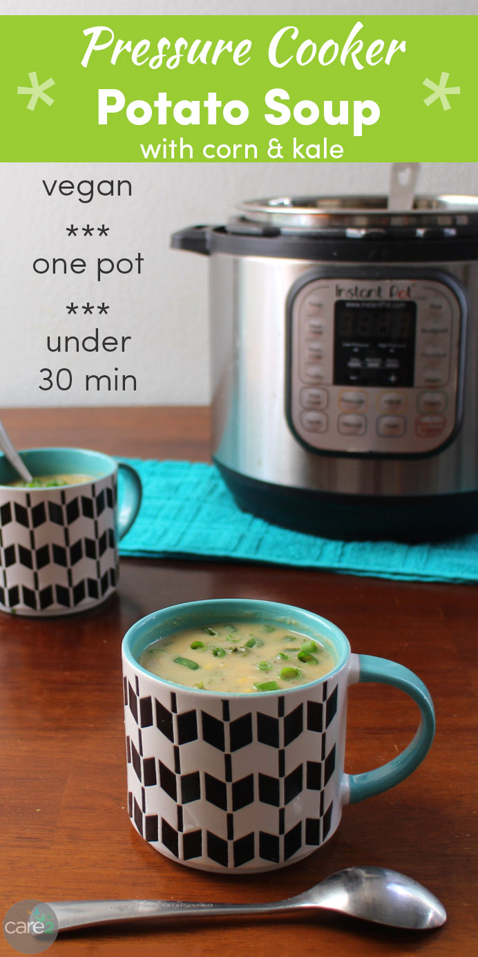 Creamy Pressure Cooker Potato Soup is a rich, hearty one-pot meal that's sneakily protein-packed.