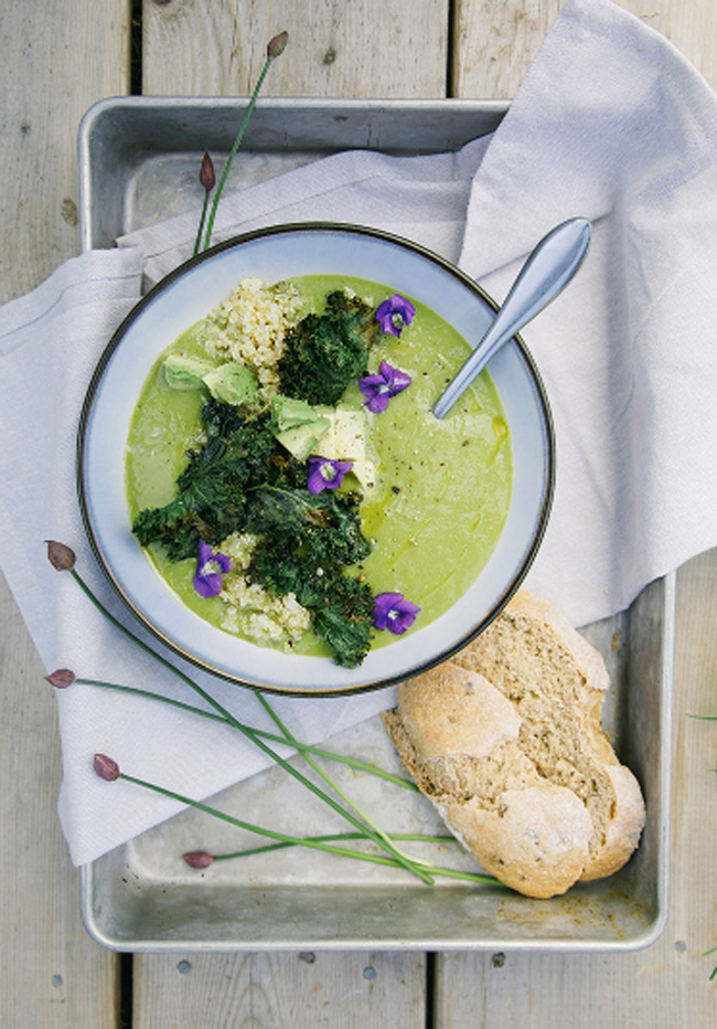 Simple Asparagus + Ramp Soup with Rustic Spelt Bread from The First Mess - Care2