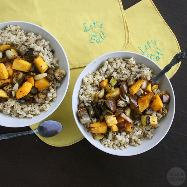 Roasted Vegetables with Barley from Glue & Glitter