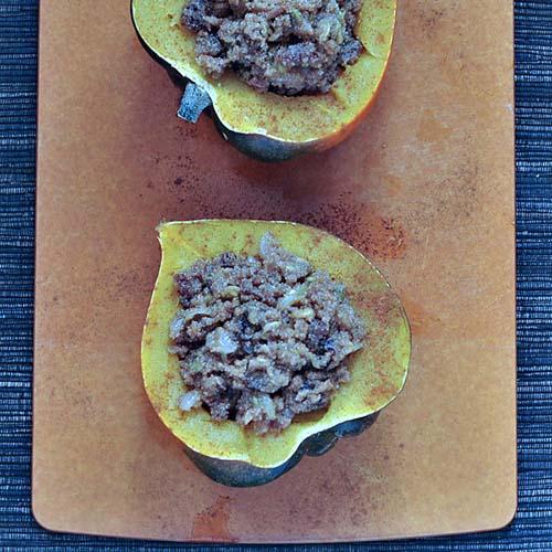 Amaranth-Stuffed Acorn Squash from Spabettie
