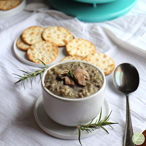 Creamy Mushroom Soup from Cadry's Kitchen