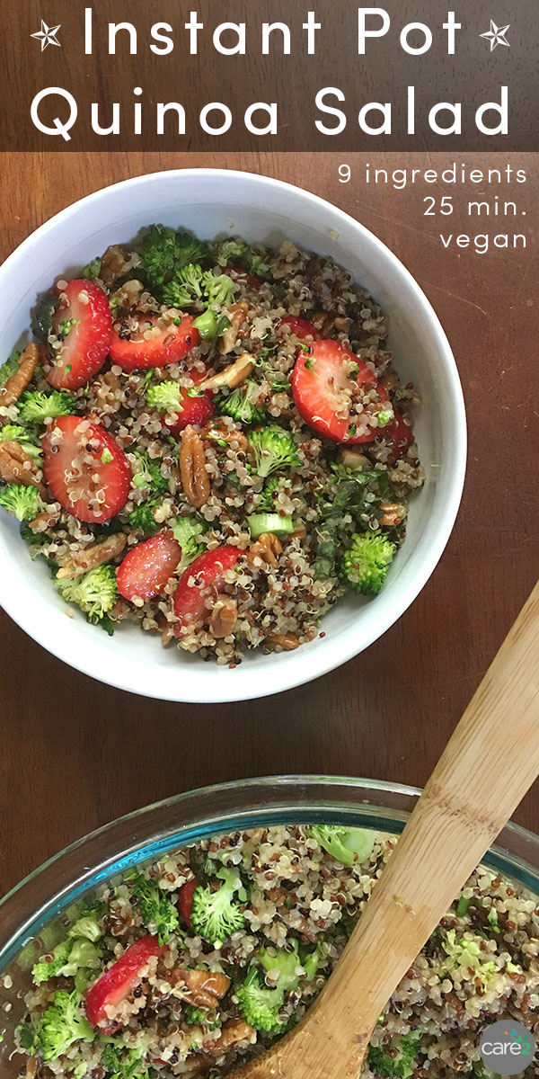 Instant pot quinoa is the base for this quick-and-easy summer quinoa salad recipe!
