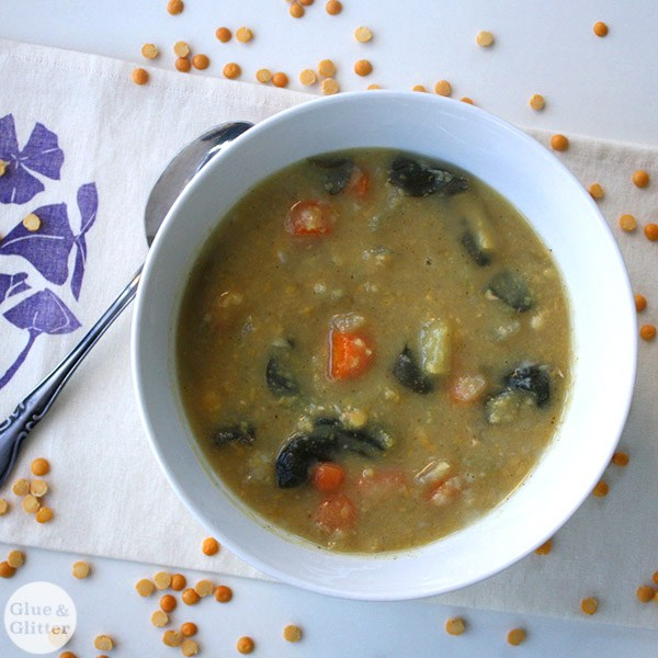 Pressure Cooker Split Pea Soup from Glue & Glitter