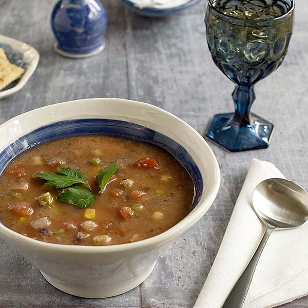 Teff Vegetable Soup from Healthy Slow Cooking