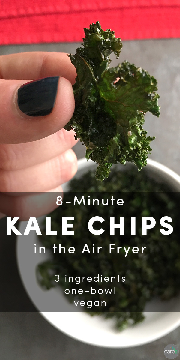 Bust out your air fryer, because I'm going to show you how to make kale chips in the air fryer. It takes under 10 minutes, and could not be easier!