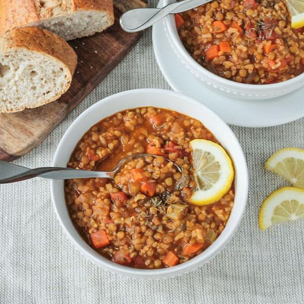 Lentil Rice Soup from Veggie Inspired