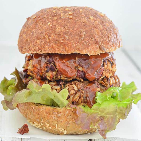 Mexican Veggie Burgers from A Virtual Vegan