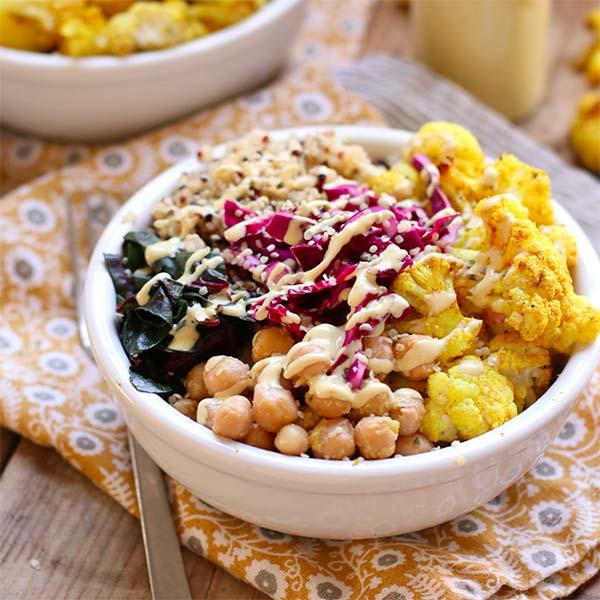 Roasted Cauliflower Buddha Bowl from My Darling Vegan