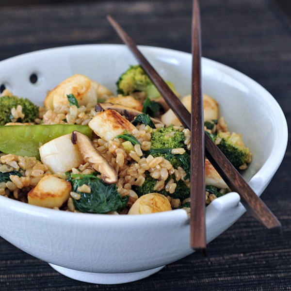 Sesame Scallop Fried Rice from Spabettie