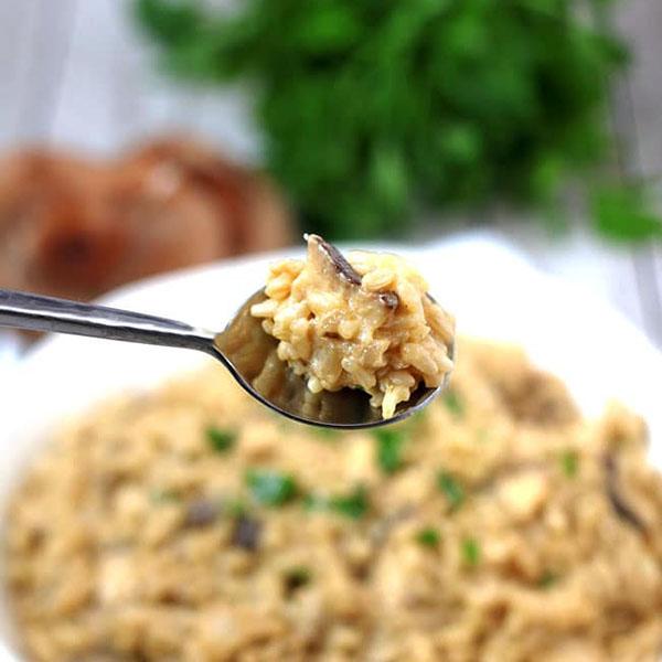Vegan Mushroom Risotto from V Nutrition