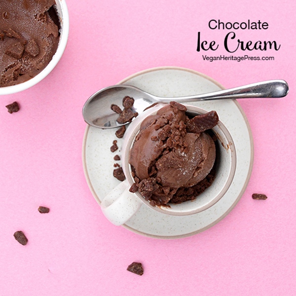 Aquafaba Chocolate Ice Cream by Zsu Dever
