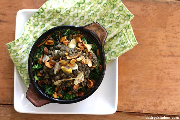 French Lentils with Caramelized Onions from Cadry's Kitchen