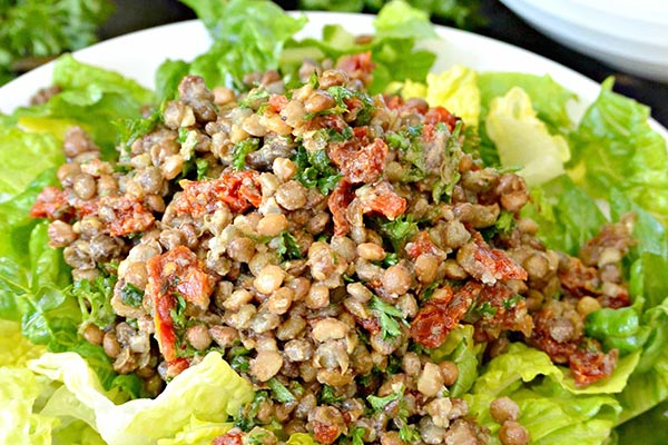 Lentil Tomato Salad from Veggies Save the Day