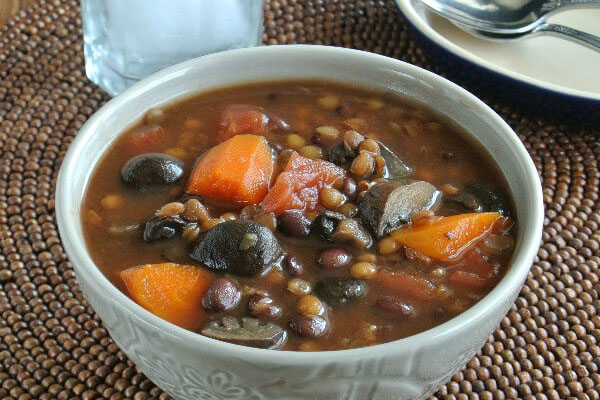 Slow Cooker Lentil Soup from Vegan in the Freezer