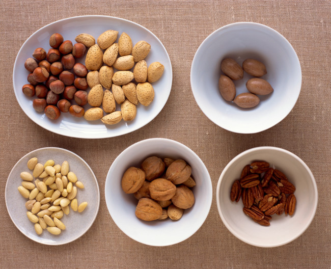 Healthy fats, like in nuts, can help keep blood sugar levels in check.