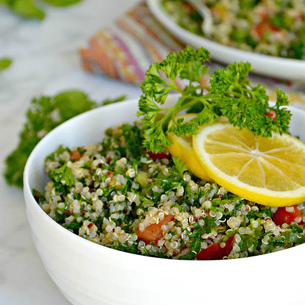 Quinoa Tabbouleh Salad from Veggies Save the Day