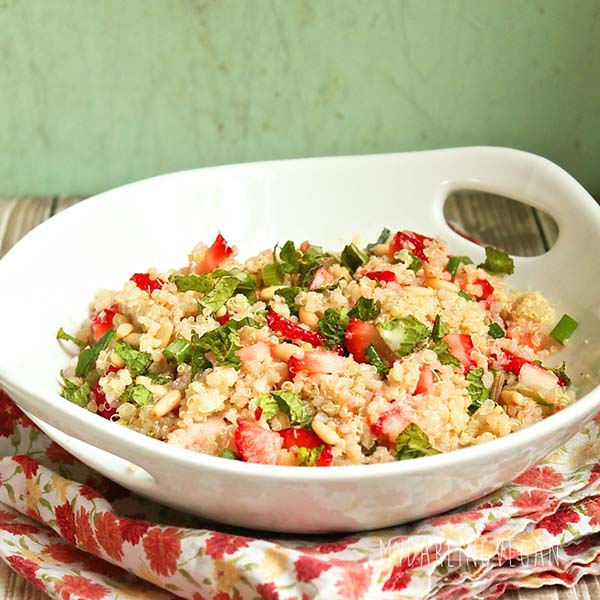 Strawberry-Mint Quinoa Salad from My Darling Vegan