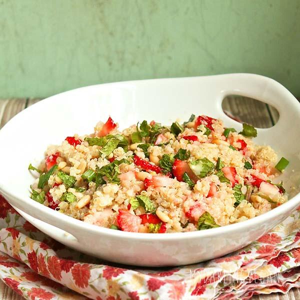 Strawberry-Mint Quinoa Salad from My Darling Vegan