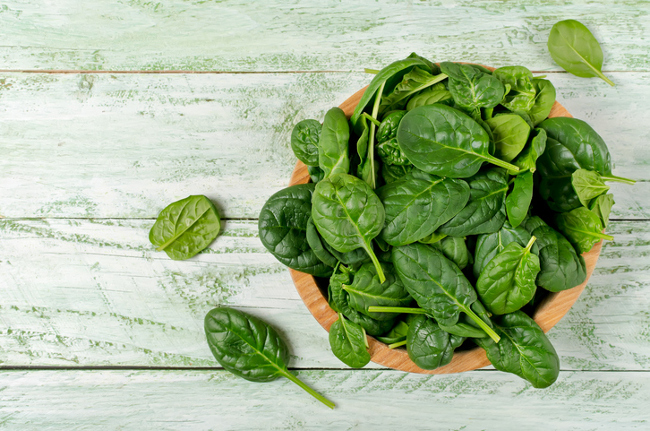 Get your magnesium from plenty of spinach.