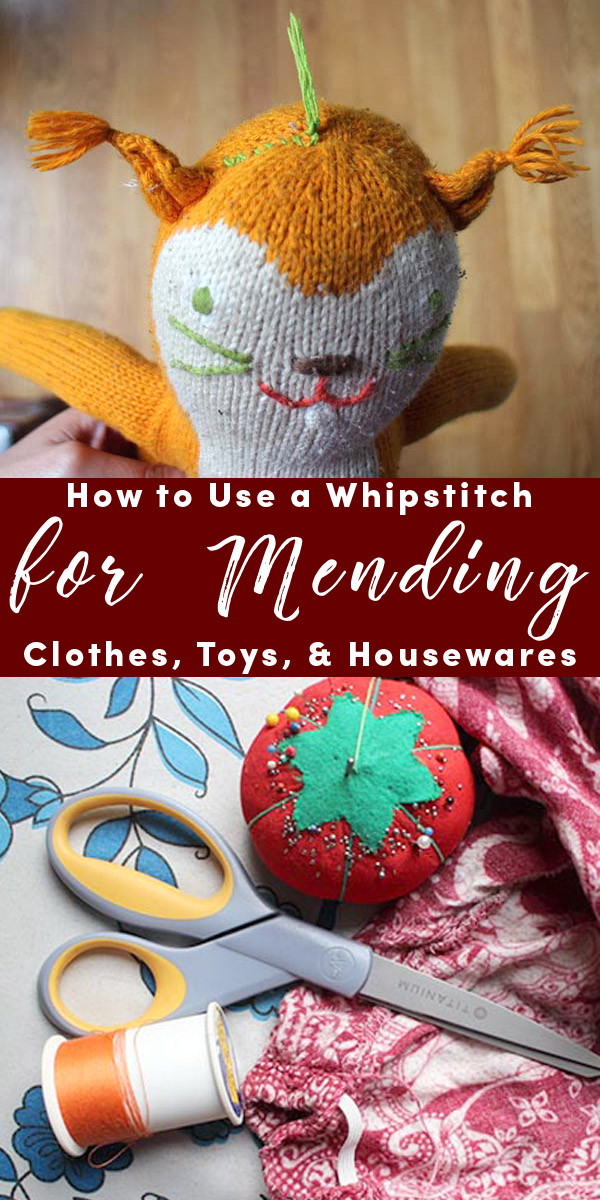 Anyone can do a whipstitch, and with practice, you can get very fast and precise with it. Here's how to use a whipstitch to mend clothing, toys, and housewares.