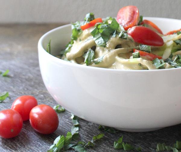 Zucchini Noodles in Vegan Cream Sauce
