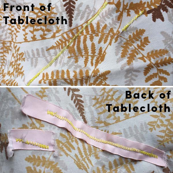 Use a whipstitch to mend a tablecloth.