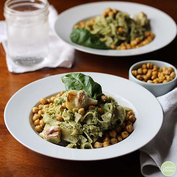 Artichoke Pesto from Cadry's Kitchen