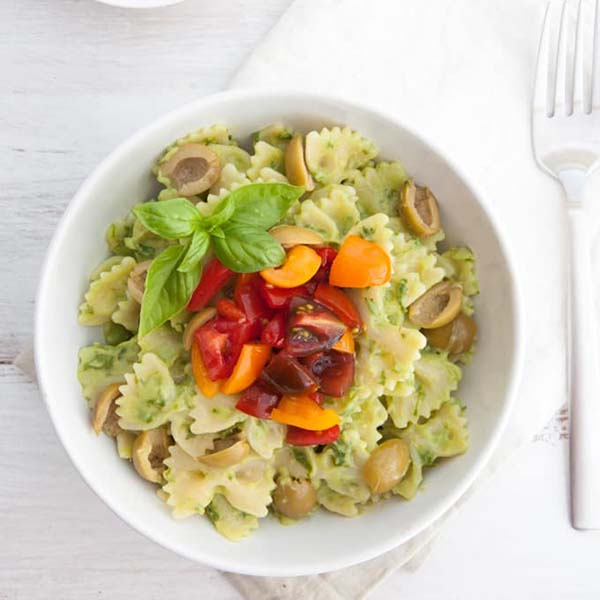 Avocado Cream Pasta from Elephantastic Vegan