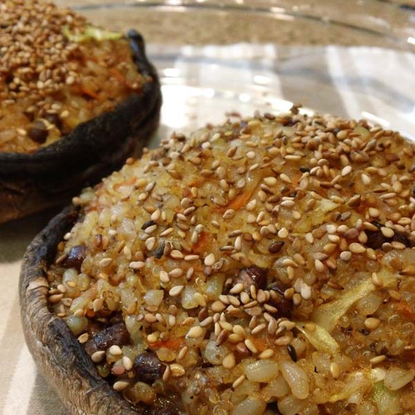 Fried Rice Stuffed Mushrooms from Vibrant Wellness Journal